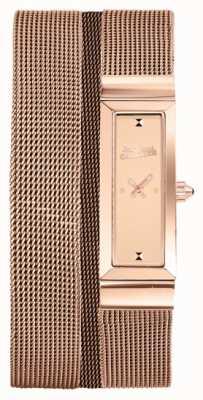 Jean Paul Gaultier Женщин cote de maille розового золота pvd сетчатый браслет розового циферблата JP8503906