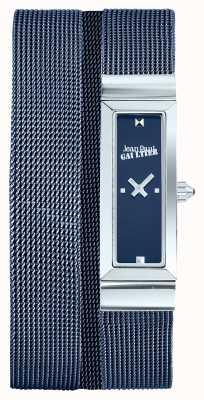 Jean Paul Gaultier Женщин cote de maille синий pvd сетка браслет синий циферблат JP8503904