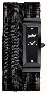 Jean Paul Gaultier Женщин cote de maille черный pvd сетка браслет черный циферблат JP8503905