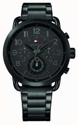 Tommy Hilfiger Бриггс черный черный браслет из нержавеющей стали черный циферблат 1791423