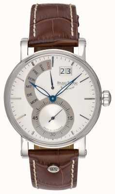 Bruno Sohnle Pesaro ii 43мм коричневые кожаные часы 17-13073-283