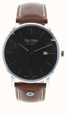 Bruno Sohnle Штутгарт и 42 мм коричневые кожаные часы 17-13175-841