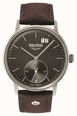 Bruno Sohnle Штутгарт II 42мм коричневые кожаные часы 17-13179-841