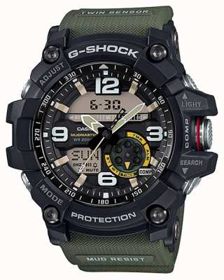 Casio G-shock mudmaster twin sensor compass зеленый ремешок GG-1000-1A3ER