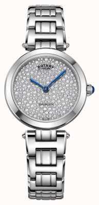 Rotary Роторный кенсингтон проложил стальные кварцевые часы LB05190/33
