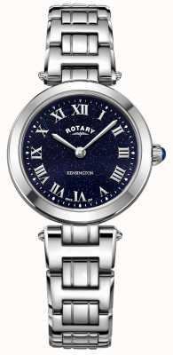 Rotary Женские кенсингтонские полуночные стальные кварцевые часы LB05190/67