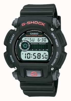 Casio Цифровой черный хронограф с полимерным покрытием G-shock DW-9052-1VER
