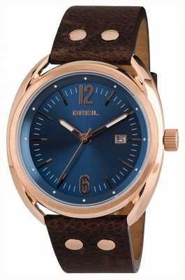 Breil Beaubourg нержавеющая сталь ipr синий циферблат коричневый ремешок TW1673
