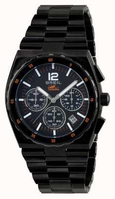 Breil Manta спортивная нержавеющая сталь ip черный хронограф черный циферблат TW1686