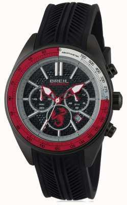 Breil Abarth нержавеющая сталь ip черный хронограф черный и красный диаметр TW1693