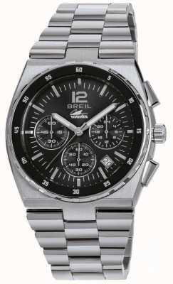 Breil Manta спортивная нержавеющая сталь хронограф черный циферблат браслет TW1639