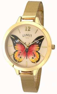 Limit Женская тайна сада золотая сетка бабочка часы 6276.73