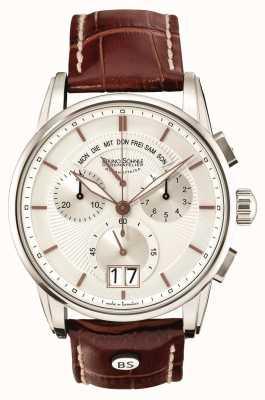 Bruno Sohnle Grandioso 42,5 мм коричневый кожаный хронограф 17-13117-245