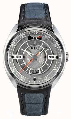 REC Porsche автоматический серый алькантара кожаный ремешок серый циферблат p-901-01