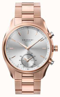 Kronaby 43mm sekel bluetooth розовое золото металлический браслет smartwatch A1000-2745