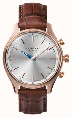 Kronaby 38mm sekel bluetooth розовый золотой кожаный ремешок smartwatch A1000-2748