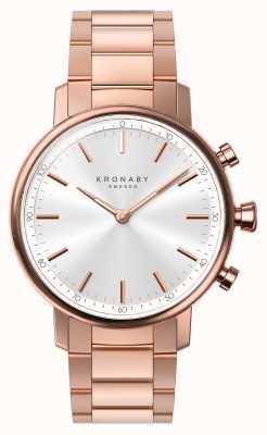 Kronaby 38-миллиметровый браслет Bluetooth розового золота a1000-2446 S2446/1