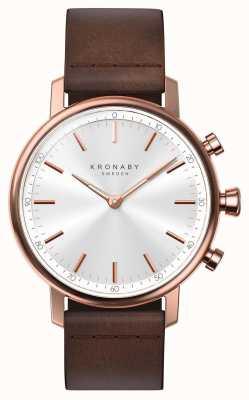 Kronaby SmartWatch кожаный ремешок из розового золота, Bluetooth, 38 мм A1000-1401