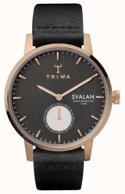Triwa Noir svalan черный классический супер тонкий SVST101-SS010114