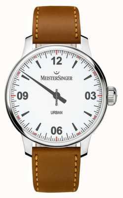 MeisterSinger Городской белый циферблат из опалового серебра UR901