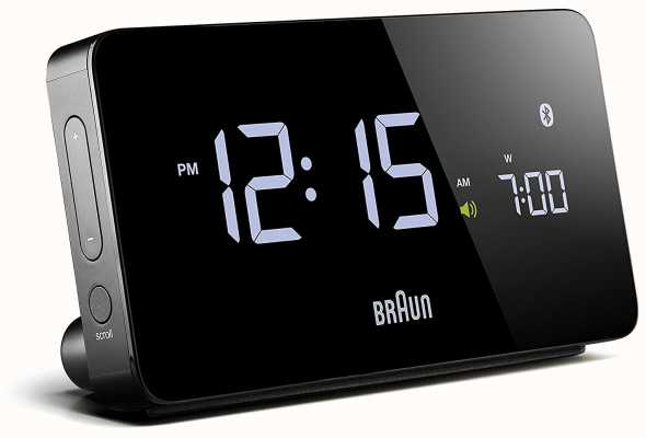 Braun Цифровой будильник bluetooth черный BNC020BK
