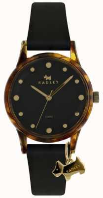 Radley Дамы черный 33 мм черный черный циферблат RY2640