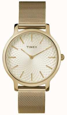 Timex 34мм браслет золотой сетки / золотой циферблат TW2R36100