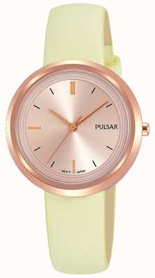 Pulsar Розовое золото и кожаный ремешок PH8394X1