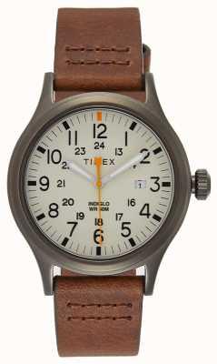 Timex Кожаный кожаный ремешок Allied 40 / натуральный циферблат TW2R46400