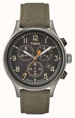 Timex Серебряный ремешок из черного нейлона / черный циферблат TW2R47200