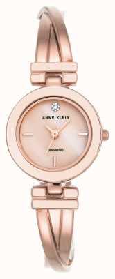 Anne Klein Женская лиа розовая золотая тональность браслет белый циферблат AK/N2622WTRG