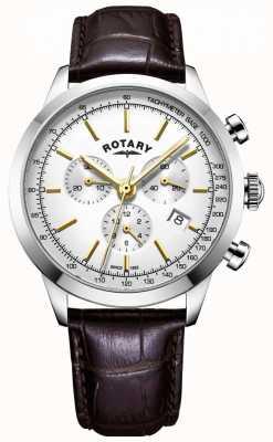 Rotary Мужские часы Camron хронограф кожаные часы GS05253/02
