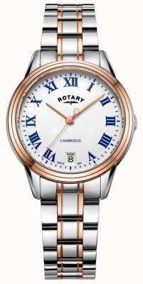 Rotary Женский женский кулачок двухцветный золотой браслет LB05260/01
