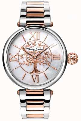 Thomas Sabo Женские глянцевые и душевые кармы часы розового золота и серебра WA0315-272-213-38