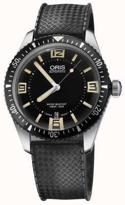 Oris Дайверы шестьдесят пять автоматических резиновых ремешок черный циферблат 01 733 7707 4064-07 4 20 18
