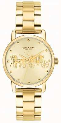 Coach Женские грандиозные золотые и браслетные часы 14502976