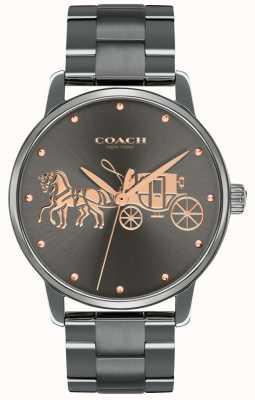 Coach Женская грандиозная черная крышка с покрытием и браслет с розовым золотом 14502924