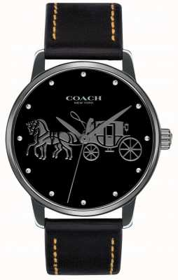 Coach Женский черный черный чехол и черный кожаный ремешок 14502974