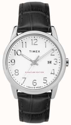 Timex Легкая подпись читателя с датой 38 мм кожаные часы TW2R64900