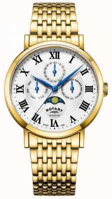 Rotary Mens windsor moonphase watch позолоченный браслет GB05328/01