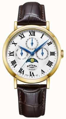 Rotary Мужской кожаный ремешок GS05328/01