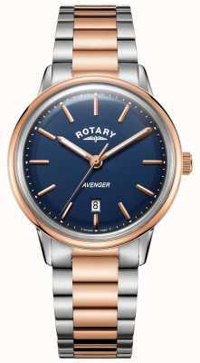 Rotary Мужские часы мститель | браслет из нержавеющей стали | синий циферблат | GB05342/05