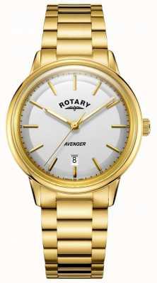 Rotary Мужские мстители смотрят золотой тонный браслет GB05343/02