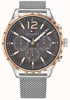 Tommy Hilfiger Мужские часы gavin хронограф серебряный браслет из сетки 1791466
