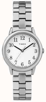 Timex Женская 31мм белая колесо из нержавеющей стали TW2R58700