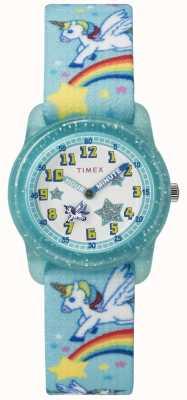 Timex Молодежный аналог 28мм тиал радужный единорог TW7C256004E