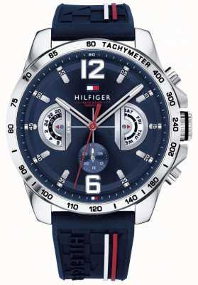 Tommy Hilfiger Мужские часы с синим циферблатом с синим ремешком 1791476