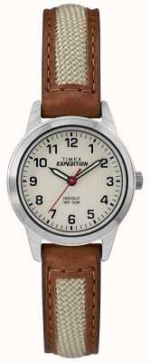 Timex Полевой мини-коричневый натуральный циферблат TW4B11900