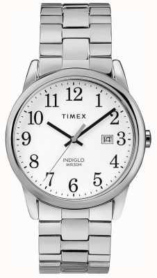 Timex Мужская 38 мм расширяемая полоса из нержавеющей стали белого циферблата TW2R58400