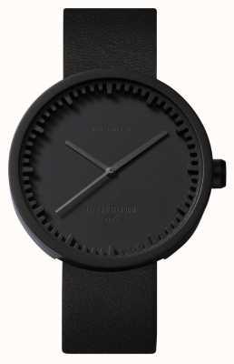 Leff Amsterdam Tube watch d38 черный чехол черный кожаный ремешок LT71011